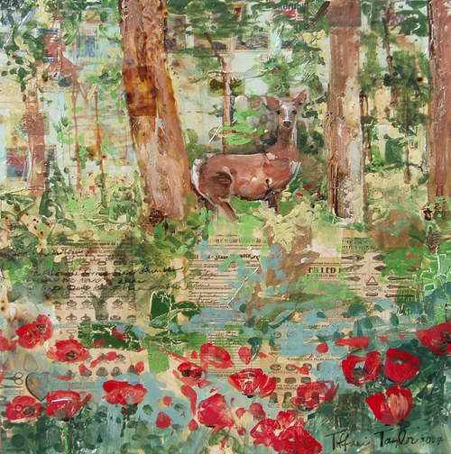 Poppies and Deer