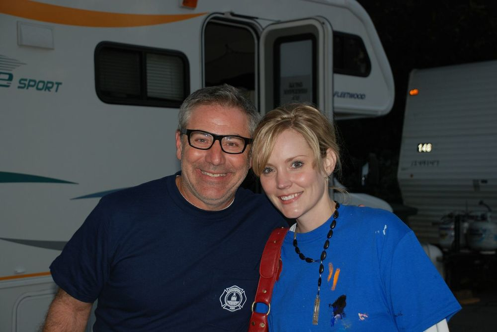 Tiffani with Paul Dimeo on Extreme Home Makeover