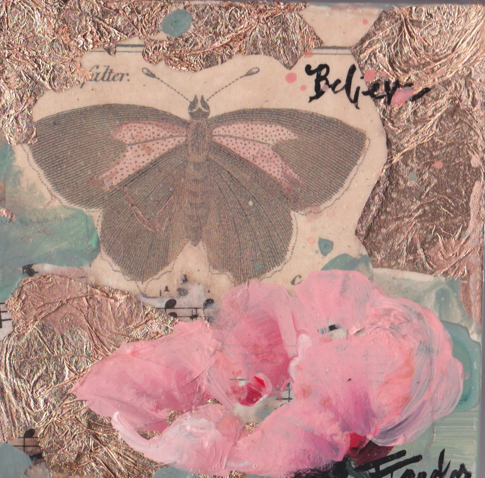 Butterfly:  Believe, Pink  Poppy