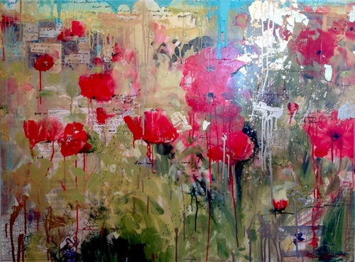 Red Poppies:  Cathedral