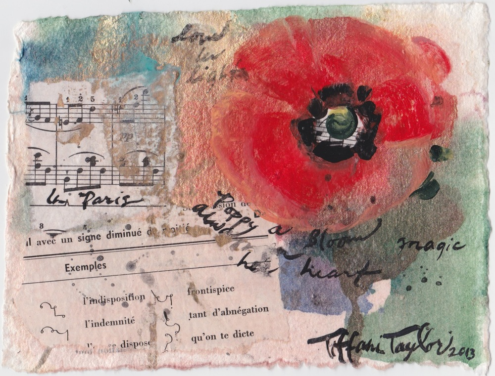 In Paris:  Poppy, a Bloom