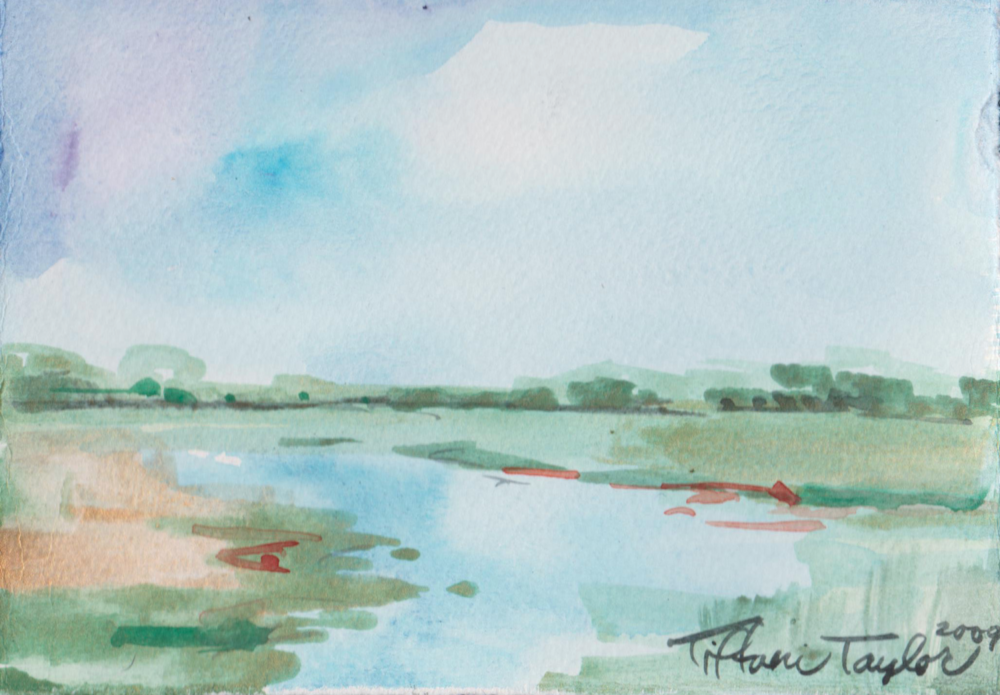 Marsh I Watercolor
