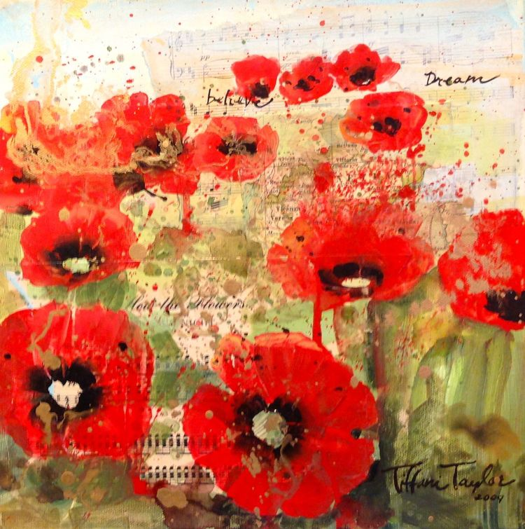 Red Poppies in the Field:  Believe, Dream I