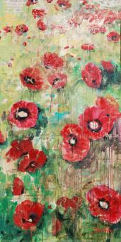 Expressionistic Poppies