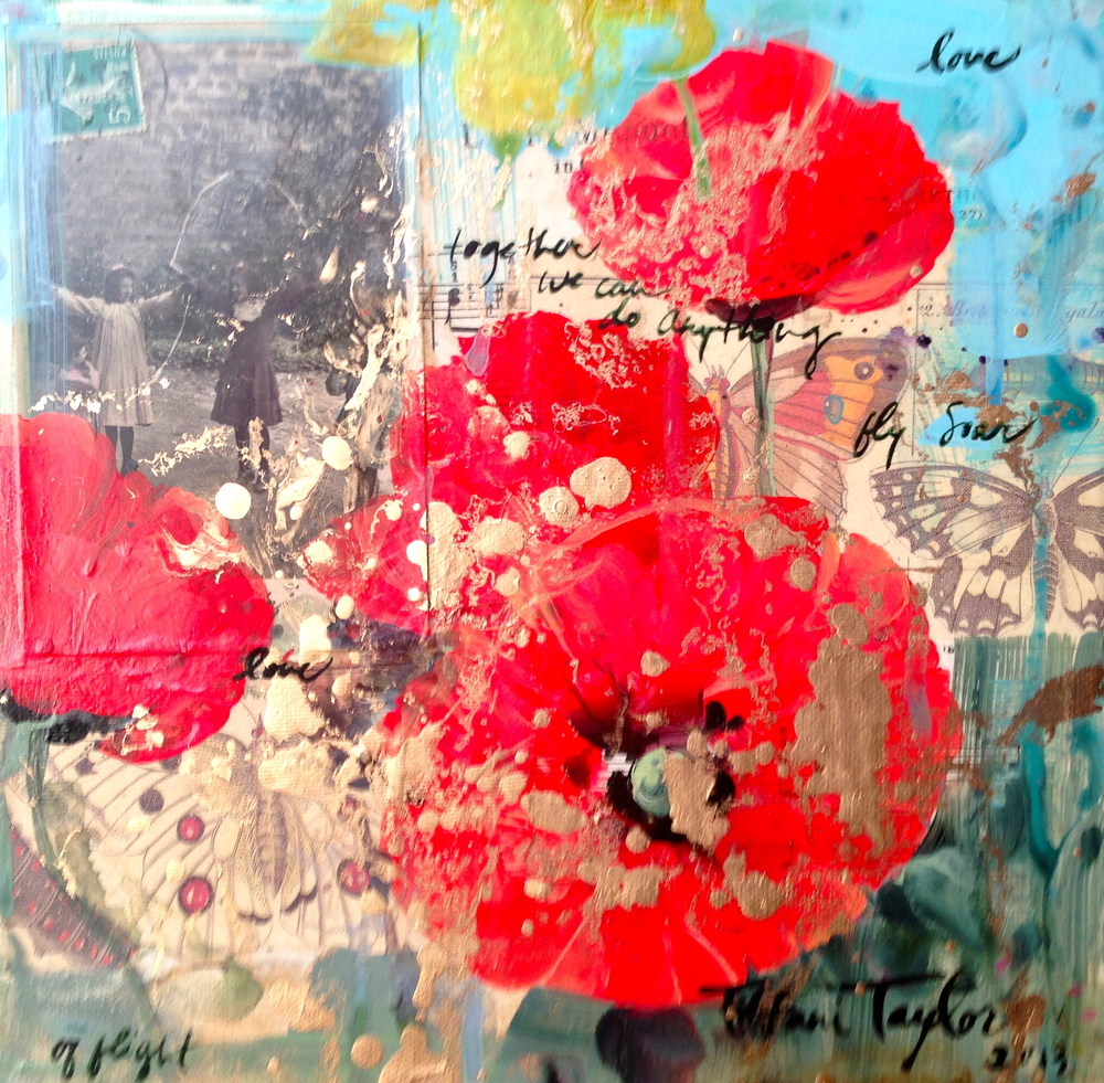 Red Poppies:  Love, Fly, Soar...