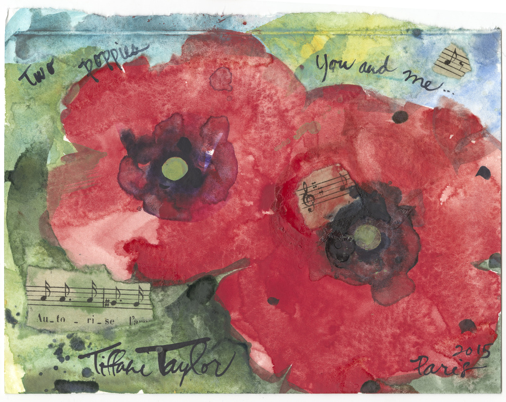 Two Poppies:  You and Me...