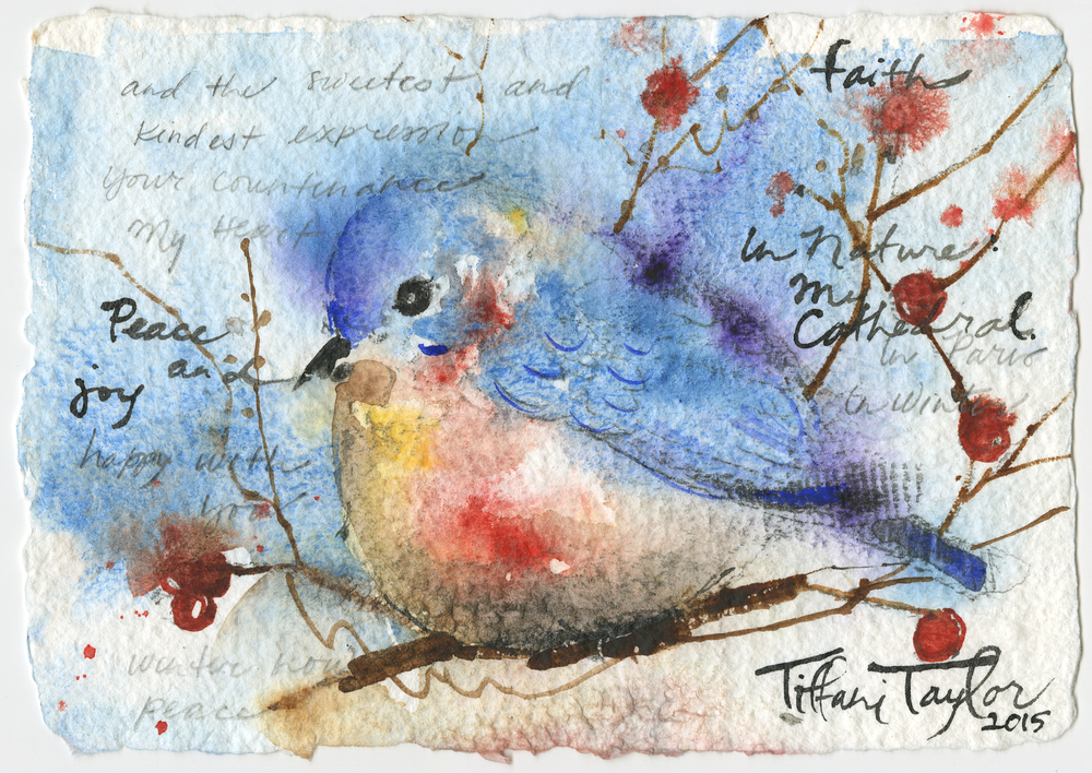 Bluebird:  Faith, Peace, and Joy...