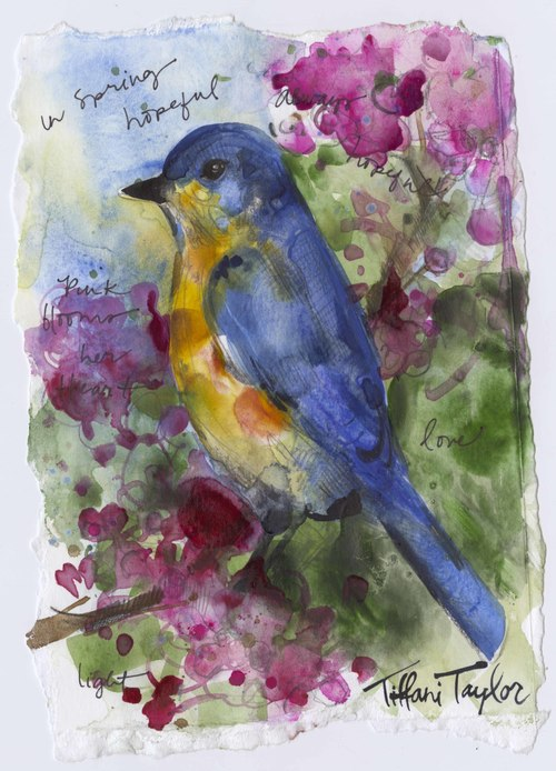 Bluebird:  In Spring...Hopeful, Love...