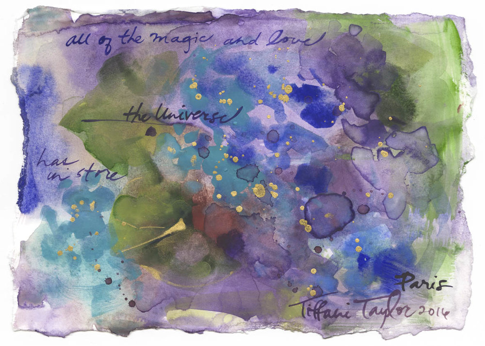 "Hydrangeas: All of the Magic and Love...6"" x 7 1/2"""