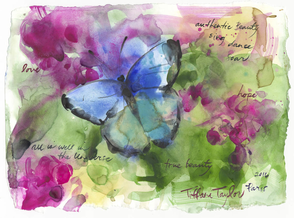 "Butterfly: Authentic Beauty... 11""x 7 1/2"""