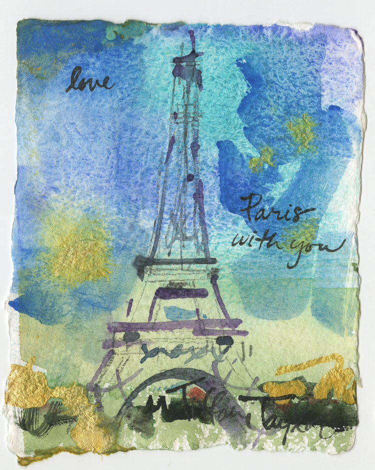 "Love: Paris, with You...4"" x 5"""