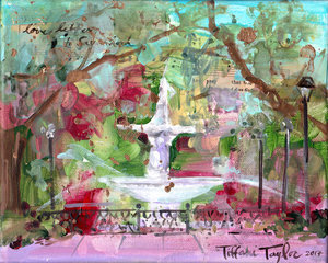 Forsyth Fountain: Savannah 8x10