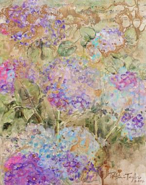 Expressionistic Hydrangeas: Music 16x20