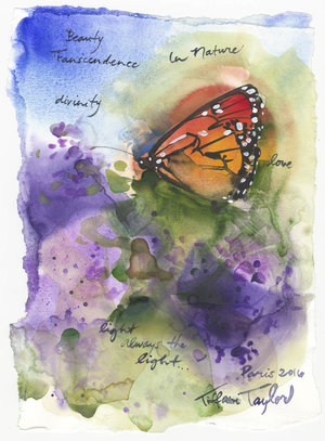 Monarch: Beauty, Divinity, Love... 11x7.5