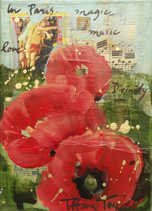 Poppies: Vintage Stamps, Paris, Magic...