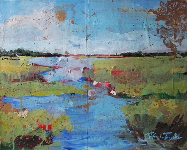 Expressionistic Marsh: Savannah, Peace, and Joy