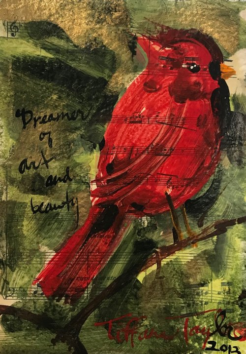 Red Cardinal: Dreamer of Art & Beauty