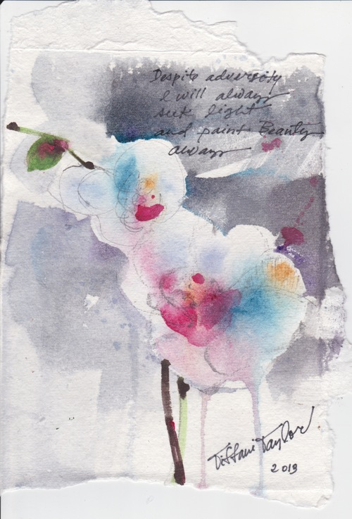 White Orchids: To Paint Beauty, Always...