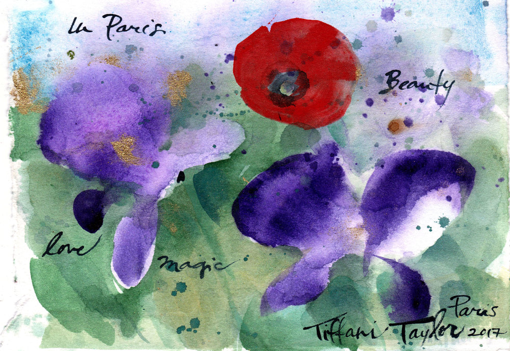 Poppy and Irises: Love, Beauty, Magic...