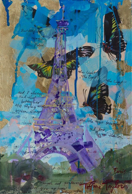 Eiffel Tower: Butterflies