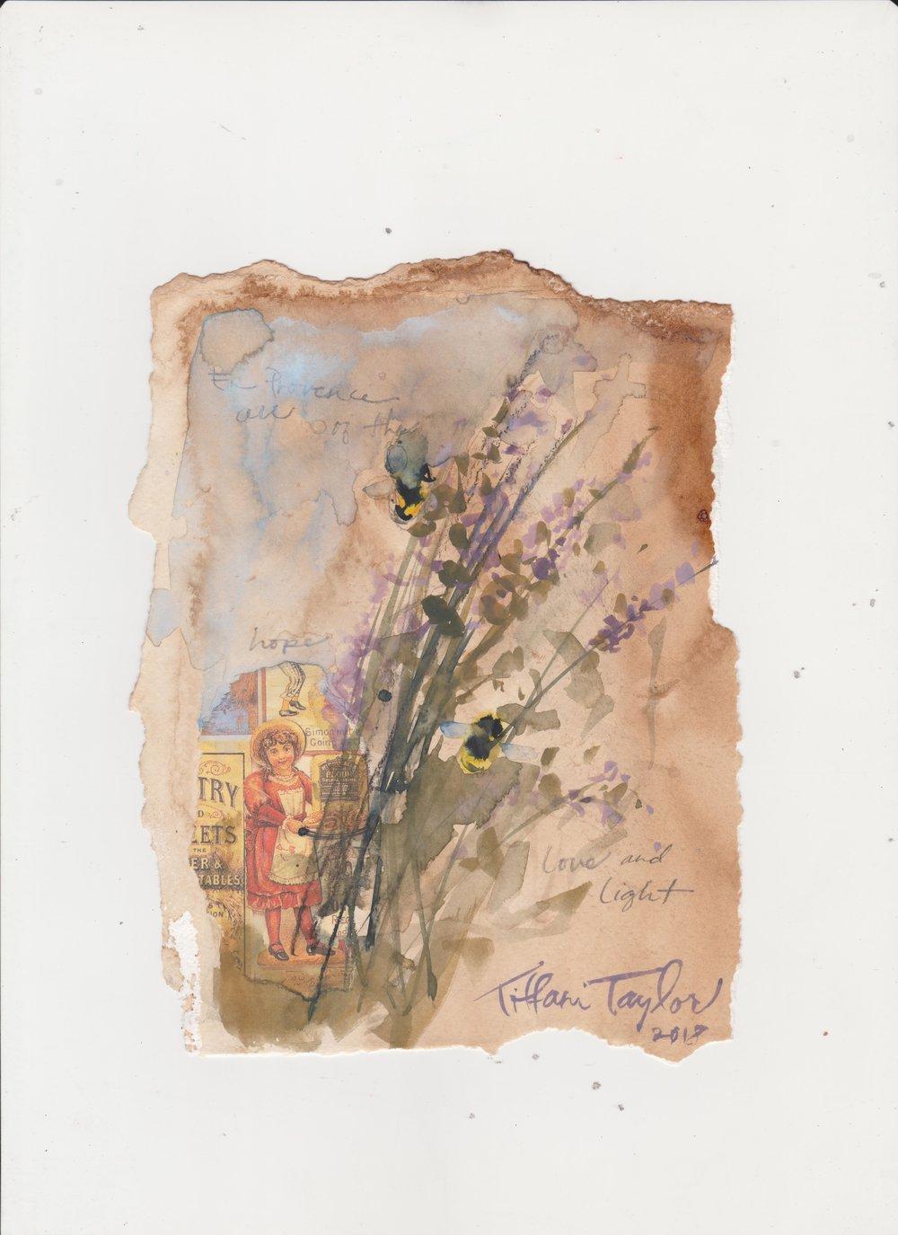 Lavender Sprig Study: Love & Light
