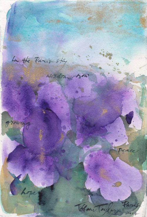 Irises: In the Paris Sky...
