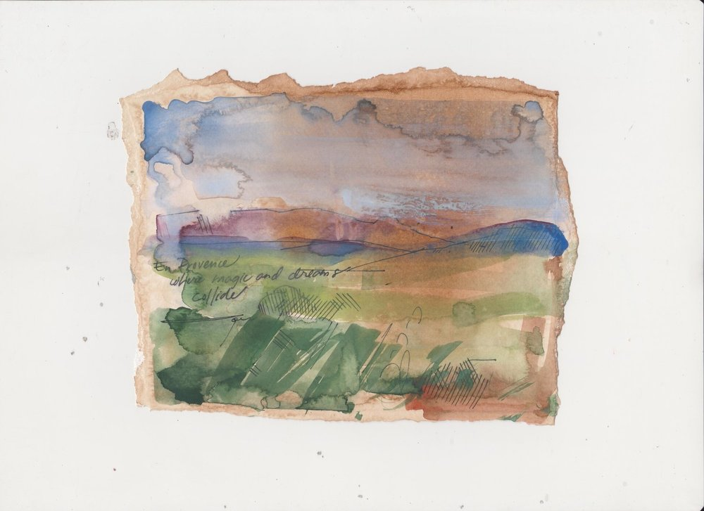 Expressionistic Landscape Study en Provence
