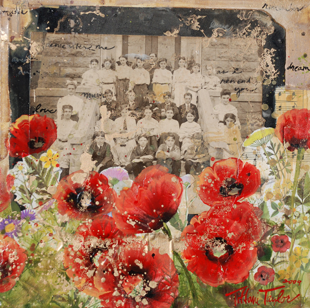 Red Poppies, Wildflowers: Remember