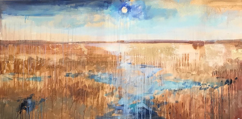 Savannah Marsh: Harmony in Blue and Gold