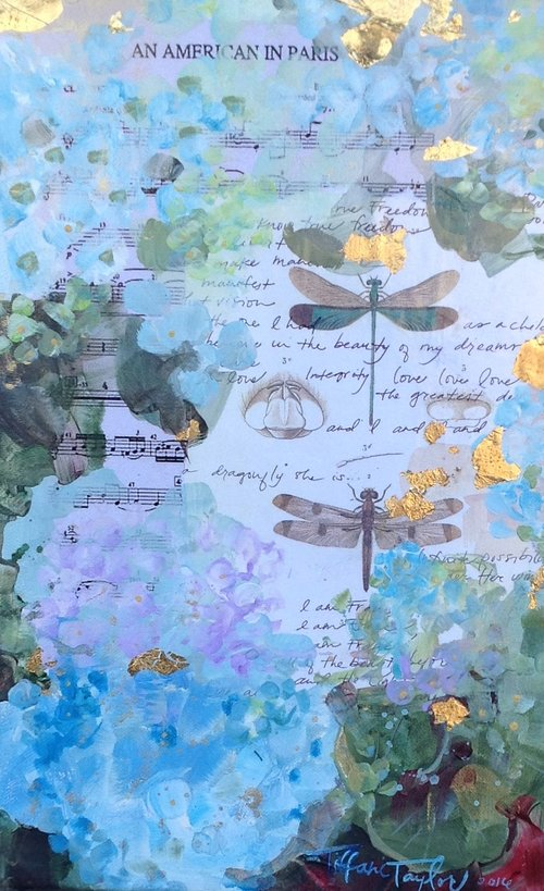 Hydrangeas, Dragonflies... an American in Paris
