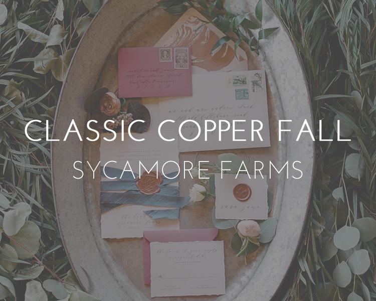 Copper Fall Wedding Inspiration - Nashville Wedding Photographer - Sycamore Farms