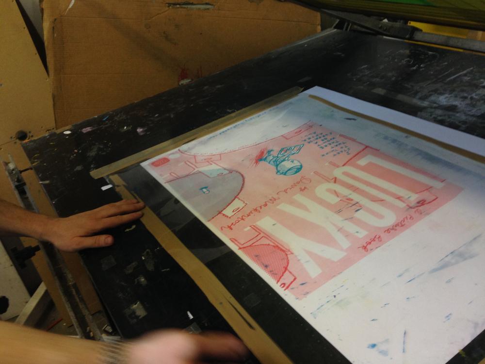 lucky screen print/david mackintosh