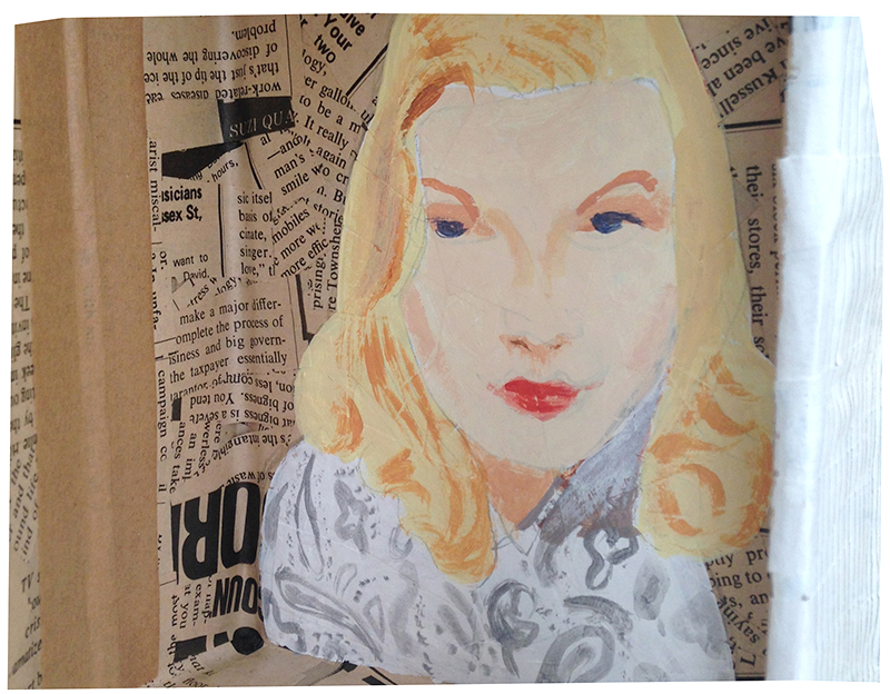 Featuring Veronica Lake in Acrylic