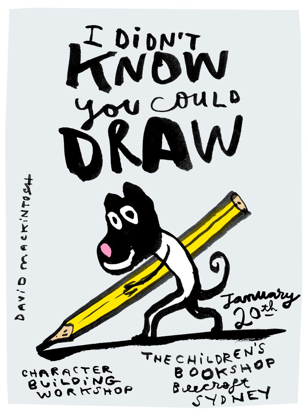 david mackintosh drawing workshop sydney
