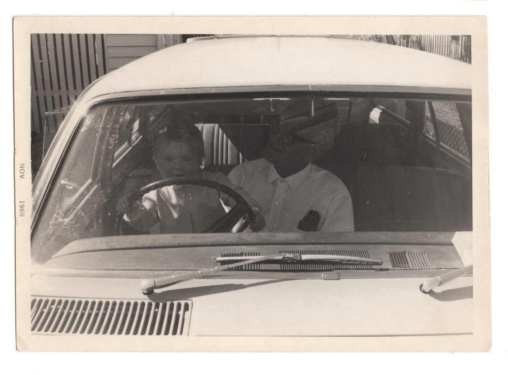 Chauffeuring Uncle Harry in his 1966 Holden HR station wagon.