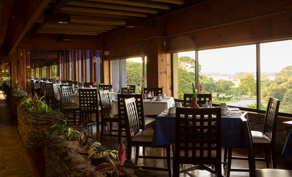 Tiki Village Resaurant (8th Floor) overlooking the Savannah.  Learn more...