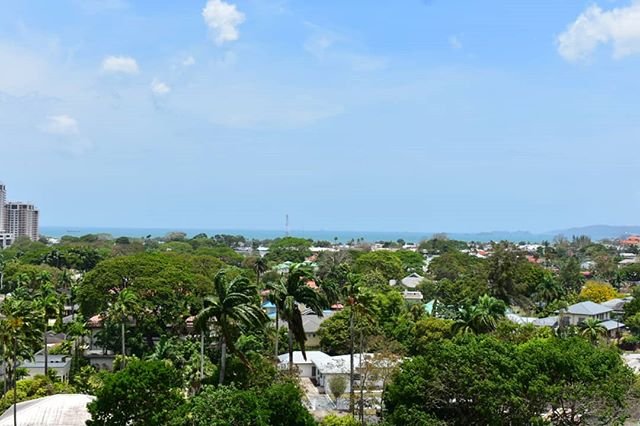 Weekend views high above the trees at Tiki Village. 🌸 #sweettnt #discovertnt #kapokiscalling #kapokhotel #tikivillage #queensparksavannah #trinidadandtobago
