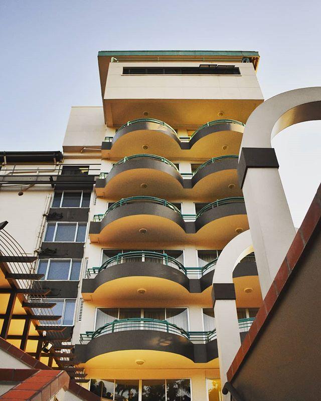 Admiring our architectural lines. #hotelarchitecture #kapokiscalling #kapokhotel #tikivillage #queensparksavannah #trinidadandtobago