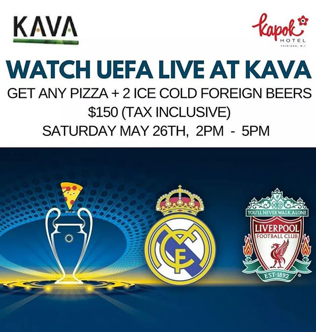 Get any @KAVARestaurant pizza and two ice cold foreign beers for $150 (tax inclusive) today from 2pm to 5pm. 🍕 ⚽ #kavarestaurant #kapokhotel #kapokiscalling #trinidadandtobago