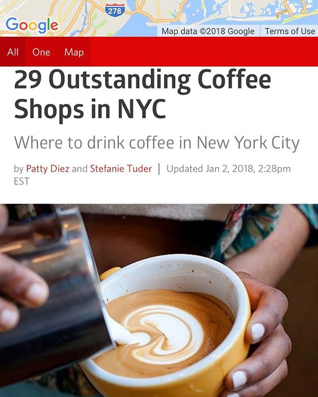 Woo! Humbled to be included on this short list of Outstanding Coffee Shops in NYC by @eater_ny 🤘🏼🤘🏼🤘🏼🔥🔥🔥
