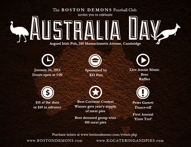 Australia Day Digital Flyer