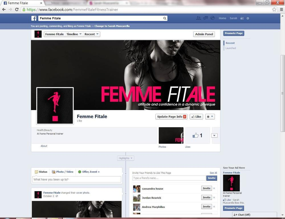 Screenshot of Femme Fitale Facebook page