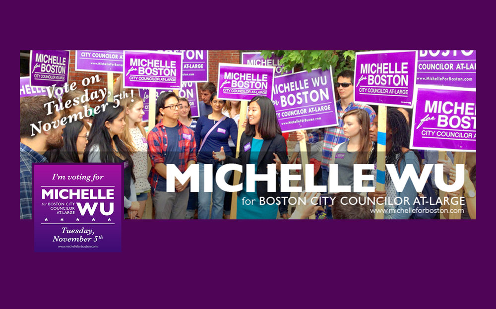 Facebook assets for the Campaign for Michelle Wu