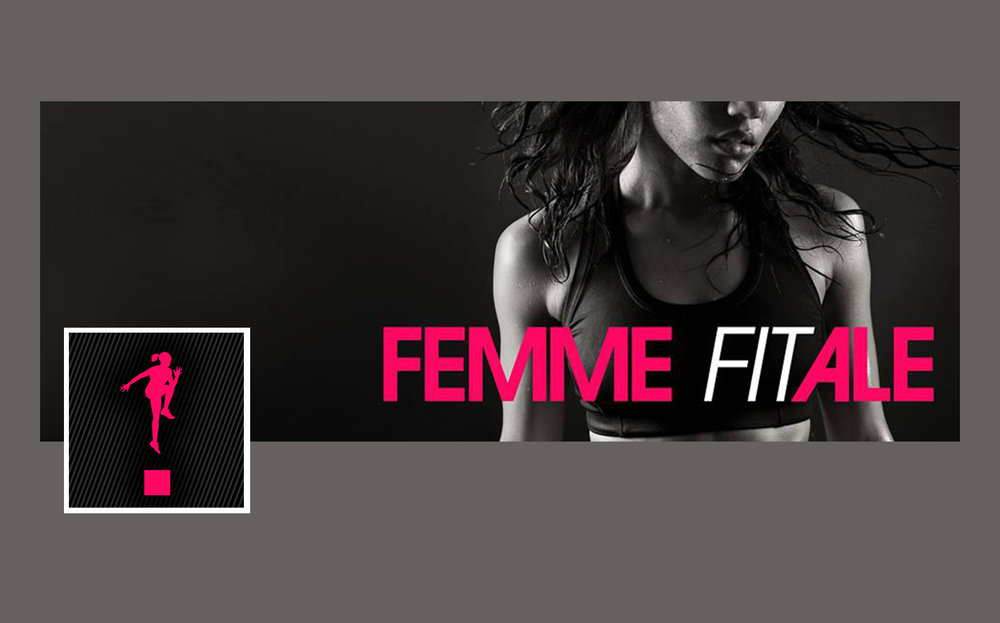 Logo, mark and Facebook assets for personal trainer business, Femme Fitale