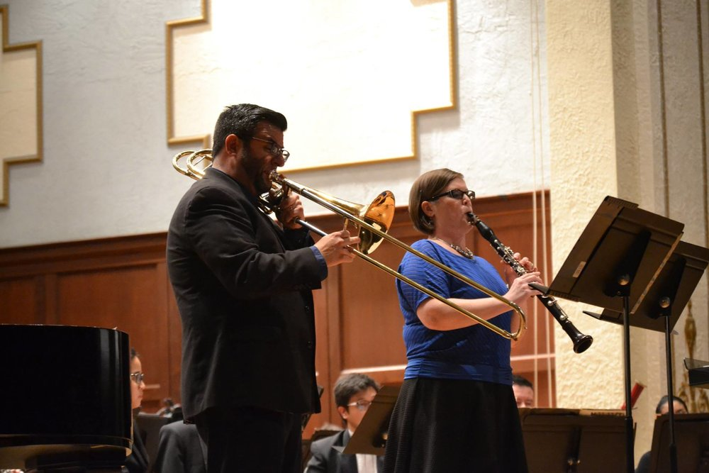 Soloists Ben and Jackie McIlwain during the premiere performance.