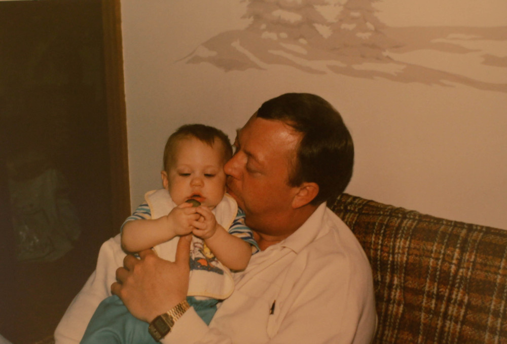 I wanted to share this picture of my Uncle cuddling me when I was a baby :)