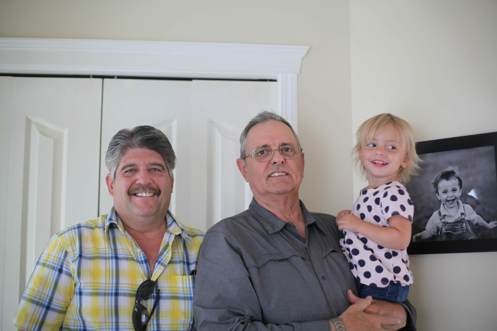Autumn was so excited she got to see both grandparents, she kept saying two grandpas! two grandmas!