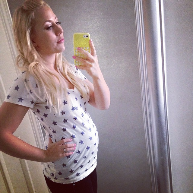 20 weeks (back when I thought I had a bump....man was I delusional.)