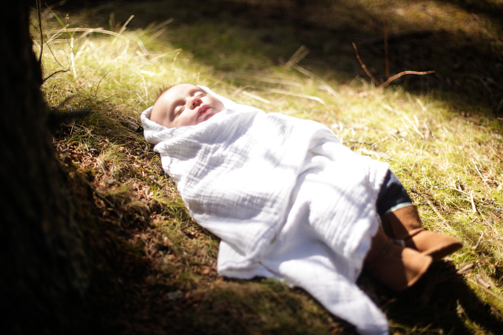 sleeping baby in the forest!
