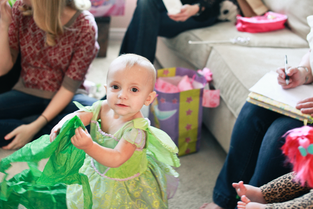 Autumn at her first birthday, she was right in the presents!